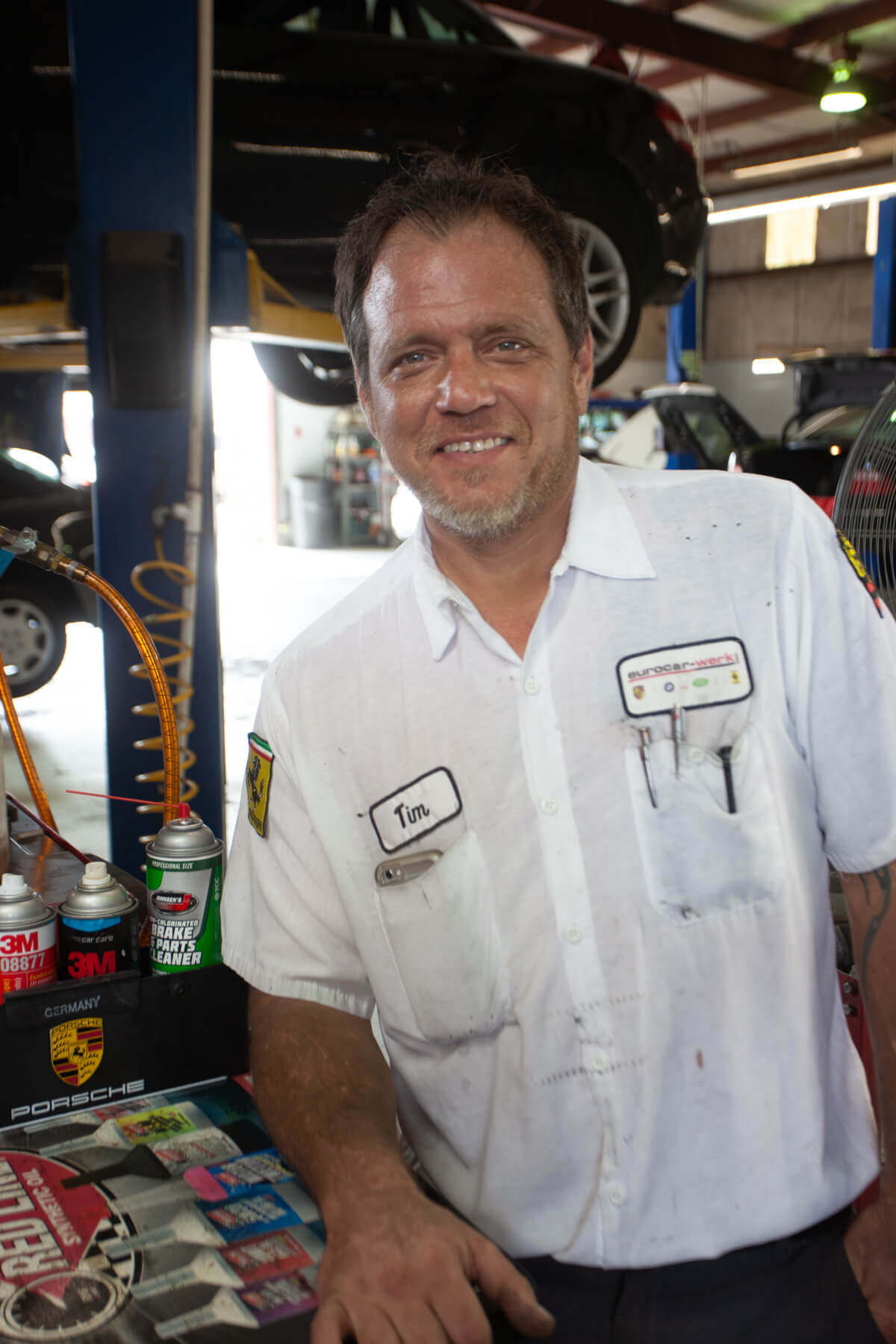 Eurocar-Werk's shop foreman is Tim